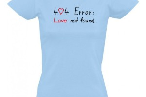 404-error-love-not-found-damske-geek-tricko
